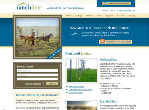 01-ranchline in 30 Beautiful Real Estate Websites