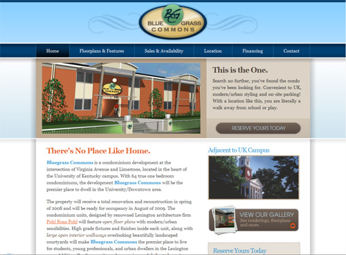 19-bluegrass in 30 Beautiful Real Estate Websites