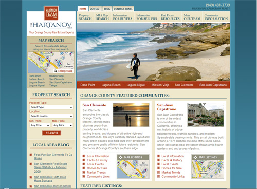 23-san Clemente in 30 Beautiful Real Estate Websites