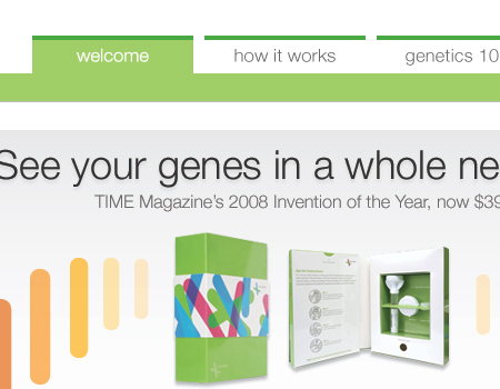 23andme in Showcase Of Well-Designed Tabbed Navigation