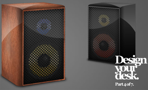 3d speakers 40+ Excellent 3D Effects Photoshop Tutorials