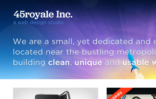 45royale in 35 Examples Of Masterful Lighting Effects In Web Design