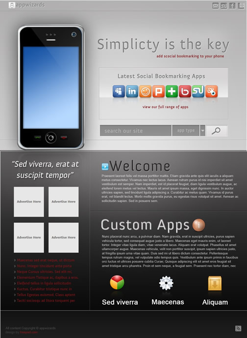 Appswizards 40 (Really) Beautiful Web Page Templates in Photoshop PSD