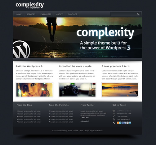 Complexity 40 (Really) Beautiful Web Page Templates in Photoshop PSD
