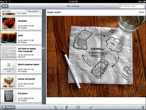 Evernote by Evernote 01 40 Useful iPad Apps for Web Designers