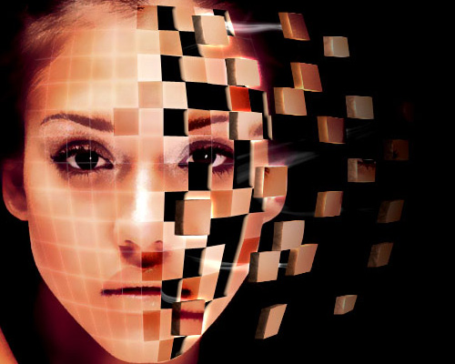 Face Shattering Effect 40+ Excellent 3D Effects Photoshop Tutorials