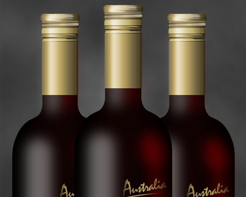 Realistic Wine Bottle 40+ Excellent 3D Effects Photoshop Tutorials