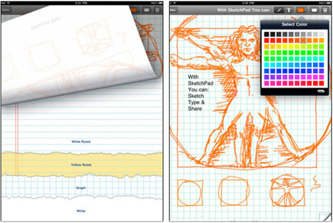 SketchPad HD by Raizlabs Corporation 01 40 Useful iPad Apps for Web Designers