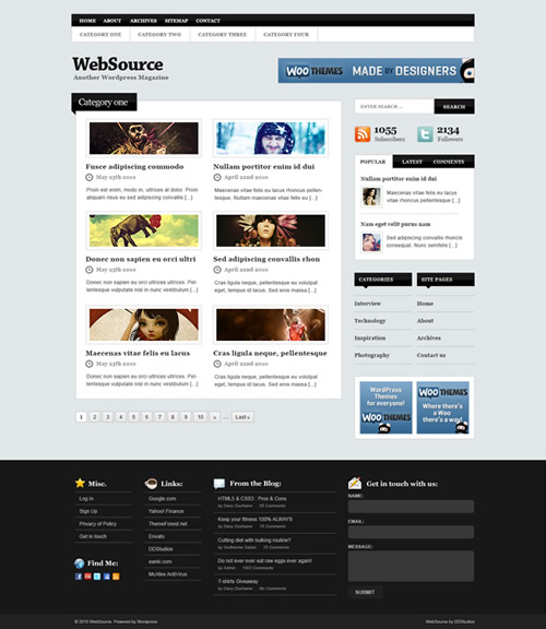 WebSource 40 (Really) Beautiful Web Page Templates in Photoshop PSD