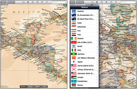 World Atlas HD by National Geographic Society 01 40 Useful iPad Apps for Web Designers