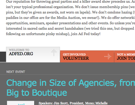 Adfed in Showcase Of Well-Designed Tabbed Navigation