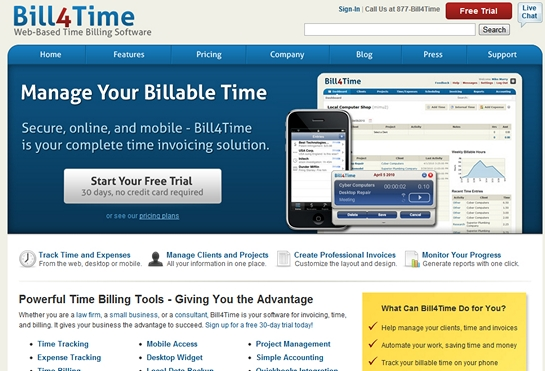 bill4time Top Invoice & Accounting Services For Freelance Designers