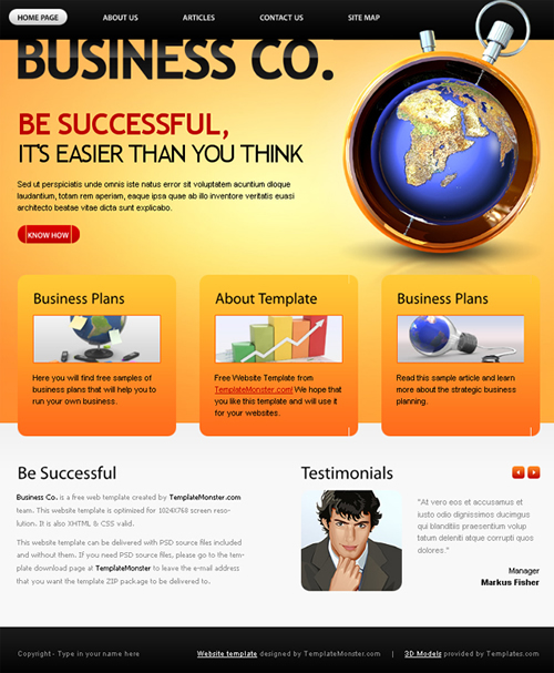 busines company 40 (Really) Beautiful Web Page Templates in Photoshop PSD