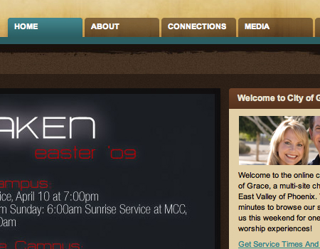 Cityofgrace in Showcase Of Well-Designed Tabbed Navigation