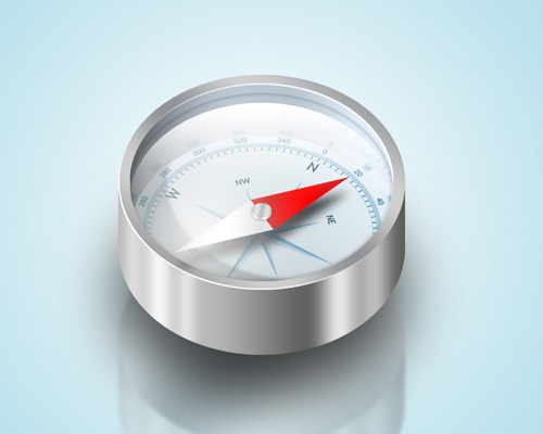 compass 40+ Excellent 3D Effects Photoshop Tutorials
