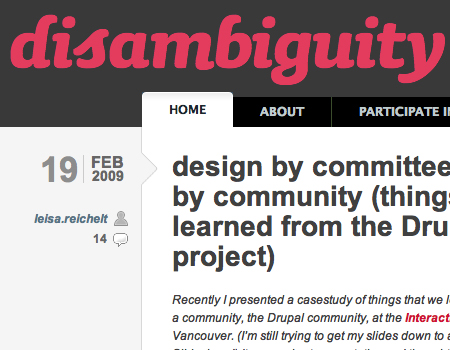 Disambiguity in Showcase Of Well-Designed Tabbed Navigation