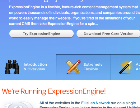 Expressionengine in Showcase Of Well-Designed Tabbed Navigation