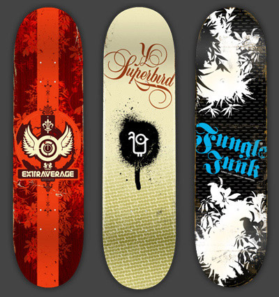 Ext1 in 40 Beautiful Skateboard Designs