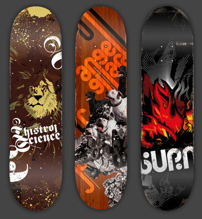 Ext2 in 40 Beautiful Skateboard Designs
