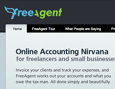 Freeagent in Showcase Of Well-Designed Tabbed Navigation