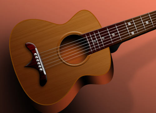 guitar 40+ Excellent 3D Effects Photoshop Tutorials