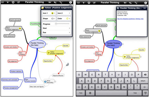 iThoughtsHD By CMS 01 40 Useful iPad Apps for Web Designers