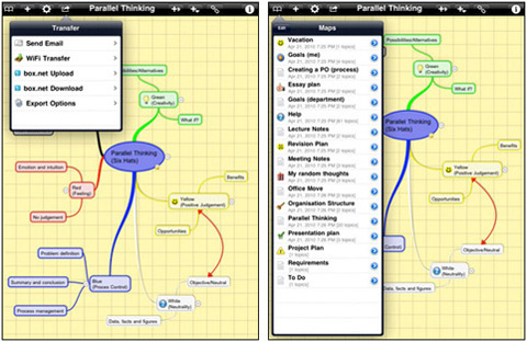 iThoughtsHD By CMS 02 40 Useful iPad Apps for Web Designers