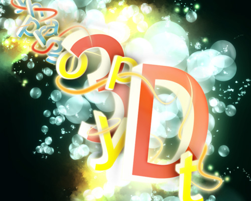 illustrate 3d typo 40+ Excellent 3D Effects Photoshop Tutorials
