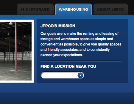 Jepco in Showcase Of Well-Designed Tabbed Navigation