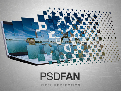 laptop advert 40+ Excellent 3D Effects Photoshop Tutorials