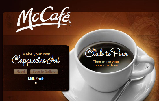 Mccafe in 35 Examples Of Masterful Lighting Effects In Web Design