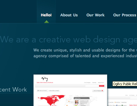 Nclud in Showcase Of Well-Designed Tabbed Navigation
