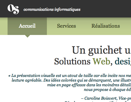 Os in Showcase Of Well-Designed Tabbed Navigation