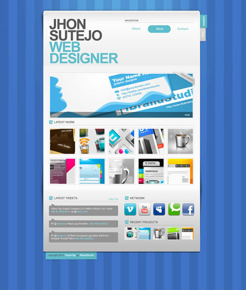 paper clip 40 (Really) Beautiful Web Page Templates in Photoshop PSD