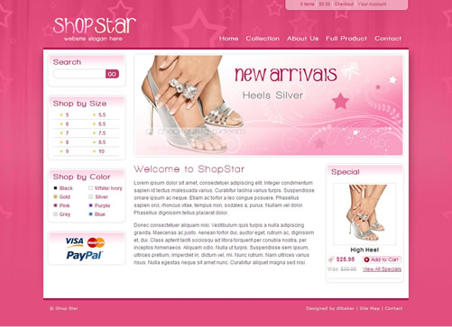 shopstar 40 (Really) Beautiful Web Page Templates in Photoshop PSD