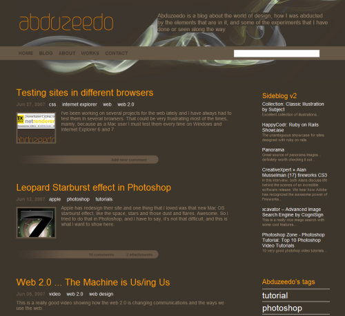 Abduzeedo in 45 Excellent Blog Designs