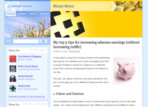 Binary in 45 Excellent Blog Designs