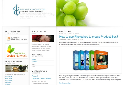 Blagonic in 45 Excellent Blog Designs