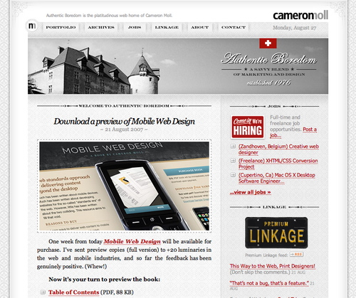 Cameron in 45 Excellent Blog Designs