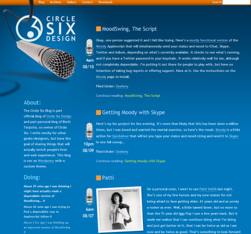 Circlesix in 45 Excellent Blog Designs