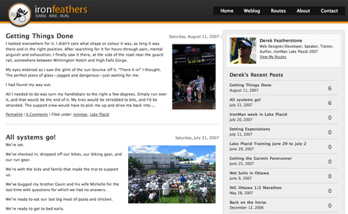 Derek in 45 Excellent Blog Designs