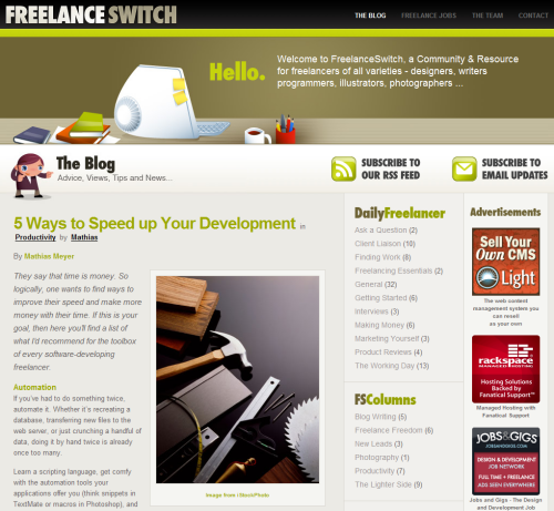 Freelance in 45 Excellent Blog Designs