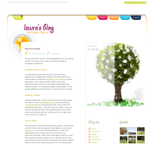 Lewro in 45 Excellent Blog Designs