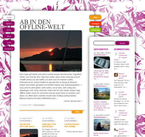 Meerblickzimmer in 45 Excellent Blog Designs