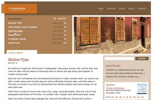 Mezzoblue in 45 Excellent Blog Designs