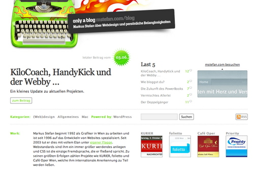 Mstefan in 45 Excellent Blog Designs