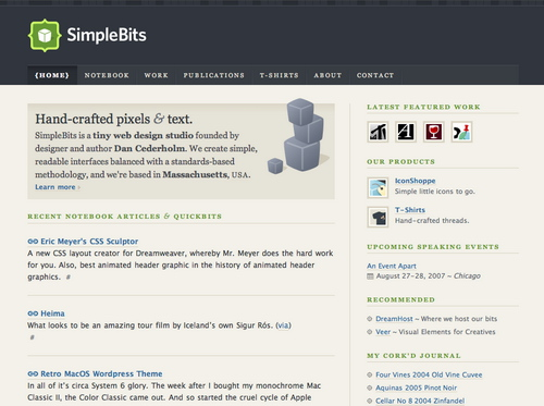 Simplebits in 45 Excellent Blog Designs