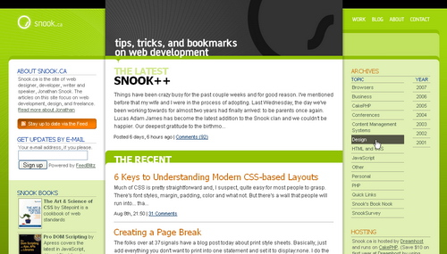 Snook in 45 Excellent Blog Designs