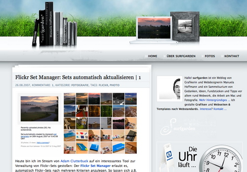 Surfgarden in 45 Excellent Blog Designs