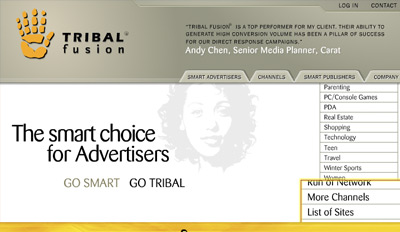 tribalfusion Top Paying CPM Advertising Network